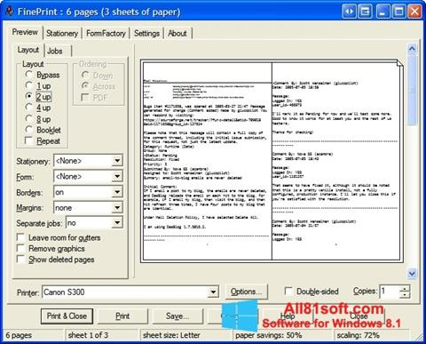 Снимка на екрана FinePrint за Windows 8.1