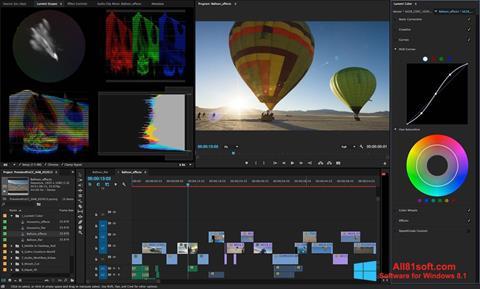 Снимка на екрана Adobe Premiere Pro за Windows 8.1