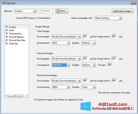 Снимка на екрана Adobe Acrobat Pro DC за Windows 8.1