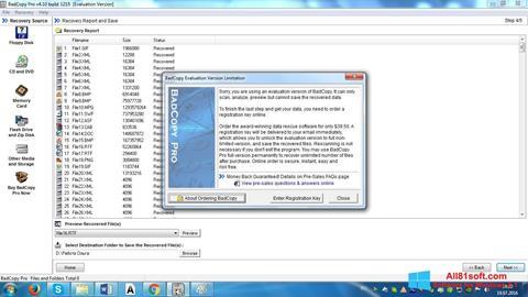 Снимка на екрана BadCopy Pro за Windows 8.1