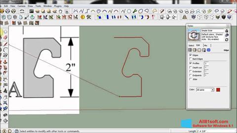 Снимка на екрана SketchUp за Windows 8.1