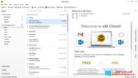 Снимка на екрана eM Client за Windows 8.1