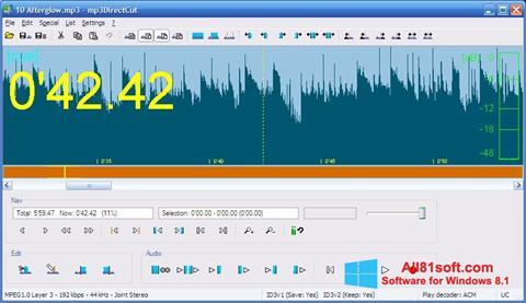 Снимка на екрана mp3DirectCut за Windows 8.1