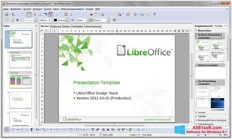 Снимка на екрана LibreOffice за Windows 8.1