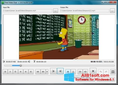 Снимка на екрана Free Video Dub за Windows 8.1