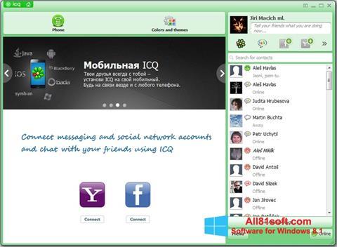 Снимка на екрана ICQ за Windows 8.1