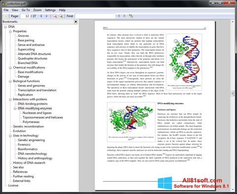Снимка на екрана Sumatra PDF за Windows 8.1