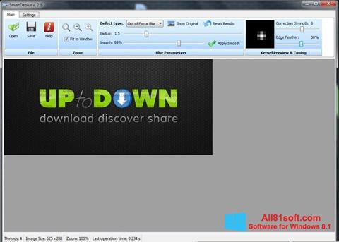 Снимка на екрана SmartDeblur за Windows 8.1