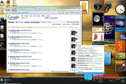 Снимка на екрана Google Desktop за Windows 8.1