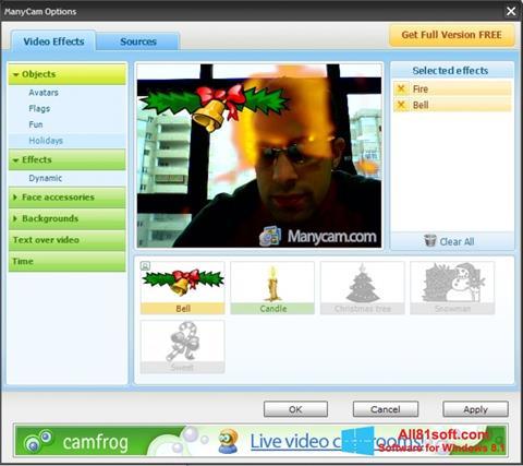 Снимка на екрана ManyCam за Windows 8.1