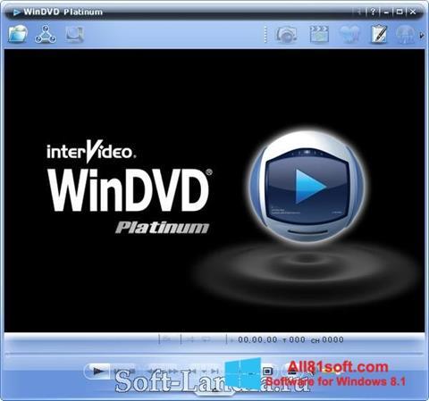 Снимка на екрана WinDVD за Windows 8.1