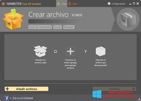 Снимка на екрана Hamster Free ZIP Archiver за Windows 8.1
