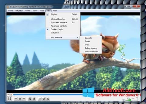 Снимка на екрана VLC Media Player за Windows 8.1