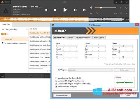 Снимка на екрана AIMP за Windows 8.1