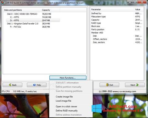 Снимка на екрана Zero Assumption Recovery за Windows 8.1