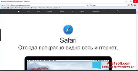 Снимка на екрана Safari за Windows 8.1