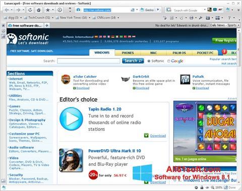 Снимка на екрана Lunascape за Windows 8.1