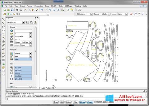 Снимка на екрана DraftSight за Windows 8.1