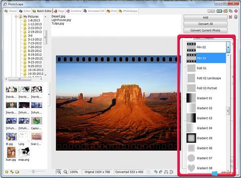 Снимка на екрана PhotoScape за Windows 8.1