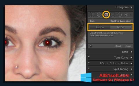 Снимка на екрана Red Eye Remover за Windows 8.1