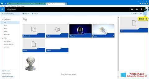 Снимка на екрана OneDrive за Windows 8.1