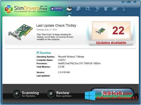 Снимка на екрана SlimDrivers за Windows 8.1