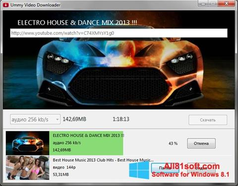 Снимка на екрана Ummy Video Downloader за Windows 8.1