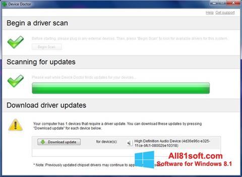 Снимка на екрана Device Doctor за Windows 8.1