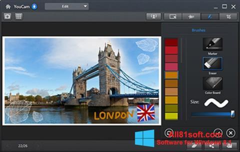 Снимка на екрана CyberLink YouCam за Windows 8.1