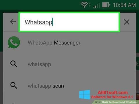 Снимка на екрана WhatsApp за Windows 8.1