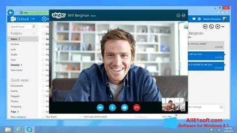 Снимка на екрана Skype за Windows 8.1